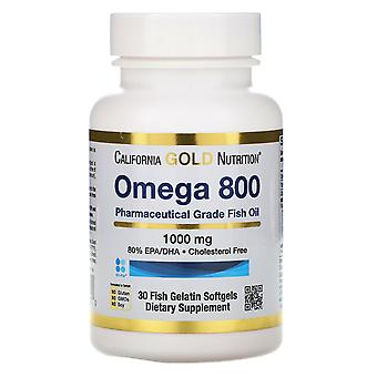 California Gold Nutrition, Omega 800 by Madre Labs, Pharmaceutical Grade Fish Oi