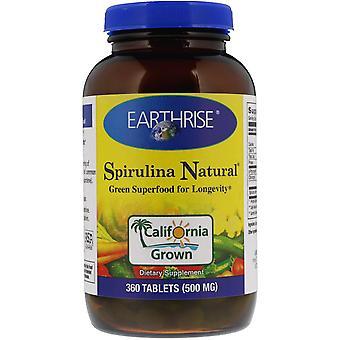 Earthrise, Spirulina Natural, 500 mg, 360 Tablets