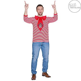 Ringelpulli Long Arm Czerwony Męski Clown Kostium Karnawał