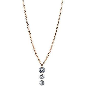 Diamantcollier  Collier - 18K 750/- Rotgold - 0.31 ct.