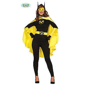 Fledermaus schwarze Heldin Bat Kostüm Damen Fledermauskostüm