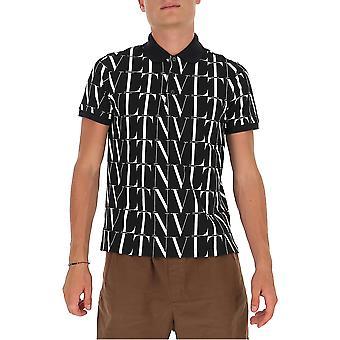 Valentino Uv3mh01t6lk0ni Hombres's Camisa Polo de Algodón blanco/negro
