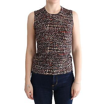Dolce & Gabbana Multicolor Print Knit Top Wool T-Shirt TUI10003-3