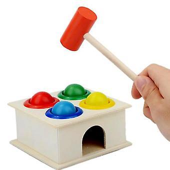 Wooden Ball Hammer Box-niños Diversión Jugando Hamster Juguete