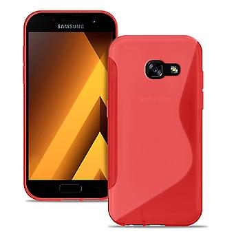 Ultra slim case voor Samsung Galaxy A5 (2017) Light TPU Ultra Thin Patterned Red
