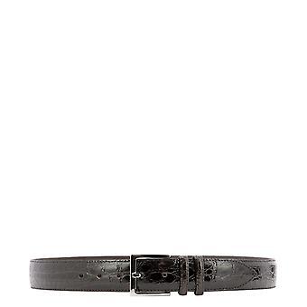 Orciani U07753coccolucidotmoro Men's Brown Leather Belt