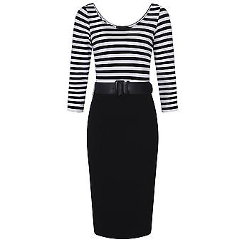 Collectif Clothing Manuela Striped Pencil Dress
