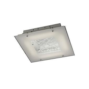 Flush Katto 16W LED 3600K kiillotettu kromi, Crystal