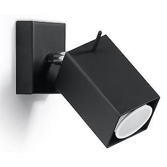 1 proyector de pared de luz negro, GU10