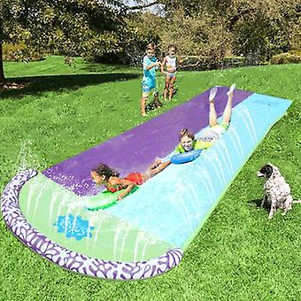 4.8m Giant Surf 'n Double Water Slide Lawn For Children Summer Pool Kids Games- Fun Backyard Outdoor Wave Rider