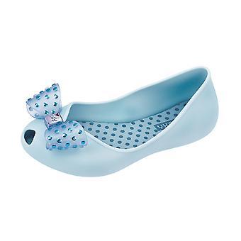 Girls Zaxy Ballerina Slip On Shoes / Confetti Ballet Flats - Sky Blue
