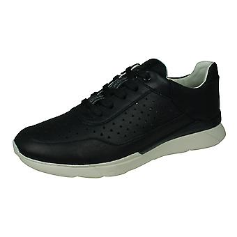Geox D Hiver B Womens Nappa Leather Trainers - Black