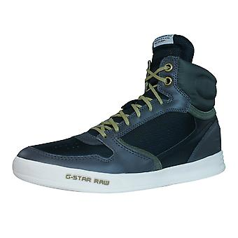 G-Star quintal Pyro Nylon Mens Oi Top Trainers - cinza