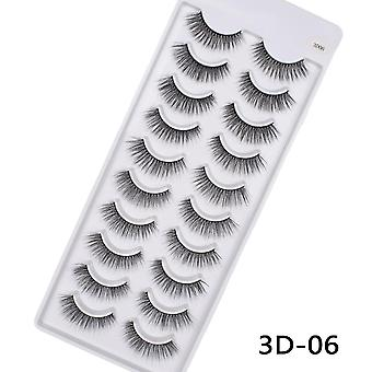 Hand Made Mink Eyelashes Makeup - 3d Mink Lashes Makeup