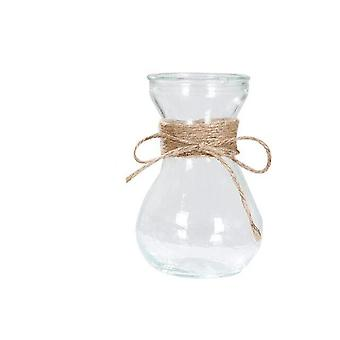 Nordic Style Rope Glass Vase - Living Room Table Decoration Transparent Water