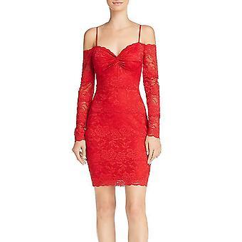 Raten Sie | Gabbie Lace Off-the-Shoulder Bodycon Kleid