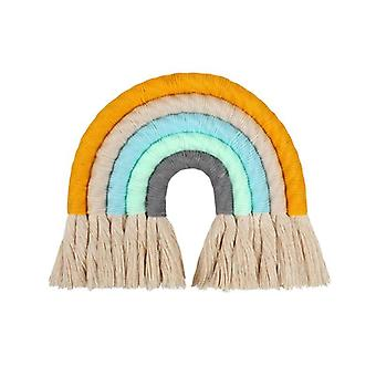 Macrame Rainbow Wall Hanging Decorative Colored For Boho Home, Party, Baby