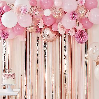 Rose Gold & Pink Balloon Garland Kit - Wedding Party Backdrop 70 Balloons