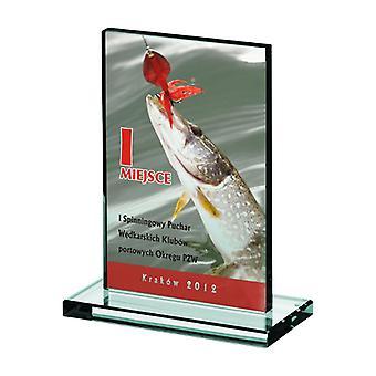 Glazen trofee met Luxorjet-kleurenprint