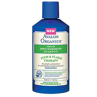 Avalon Organics Anti-Dandruff Shampoo Itch & Flake Therapy, 14 Oz, Itch & Flake Therapy