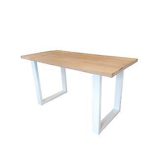 Wood4you - New england statafel Eikenhout 200Lx110Hx90D cm wit