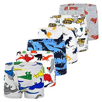 6pcs/lot Briefs Underwear Kids Boxer Panties For 2-10 Years, Soft Organic