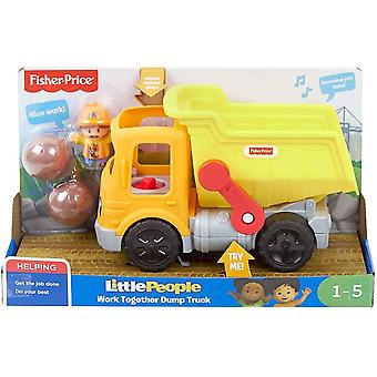 Fisher price little people work together dump truck musical toddler toy,