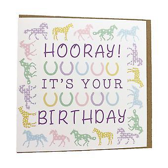 Gubblecote Hooray Greetings Card