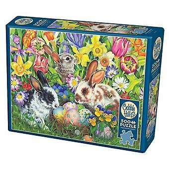 Cobble hill puzzle - easter bunnies - 500 pc