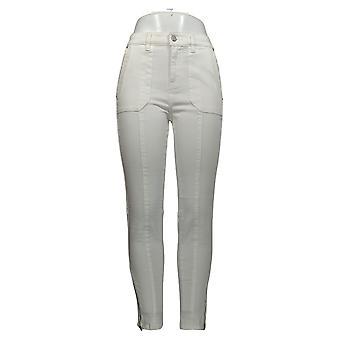 G by Giuliana Women's Jeans Downtown Denim Ankle-Zip Skinny White 647-177