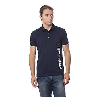 Roberto Cavalli Sport Ajeus Navy Tulosta T-paita