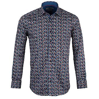 Claudio Lugli Spiral Print Mens Shirt