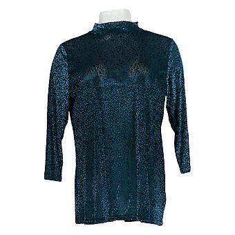 LOGO Layers par Lori Goldstein Women-apos;s Top Burnout Velvet Blue A387324