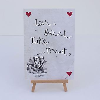 Alice in Wonderland Sweet Bar White 'Love Is Sweet' Sign And Easel