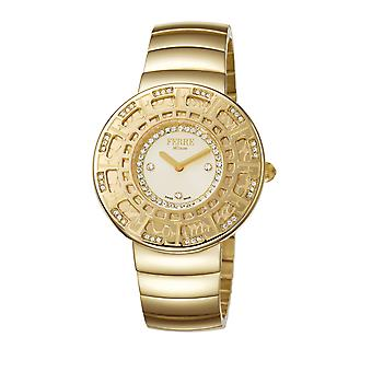Ferre Milano Ladies Champagne Dial Stainle Steel, IP gold plated Watch