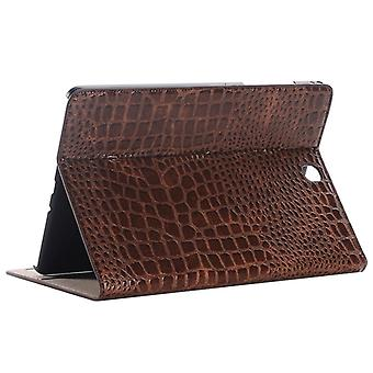 Crocodile Texture Horizontal Flip Leather Case with Holder & Fentes de carte & Portefeuille pour Galaxy Tab A 9.7 / T550 / T555 / P550 /P555 (Brown)