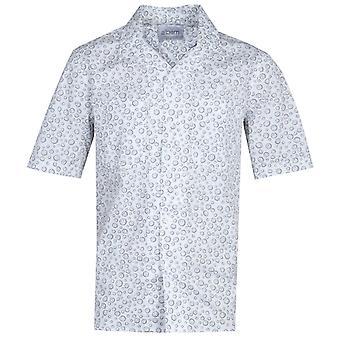 Albam Sunny Face Revere Collar Print Ecru Shirt