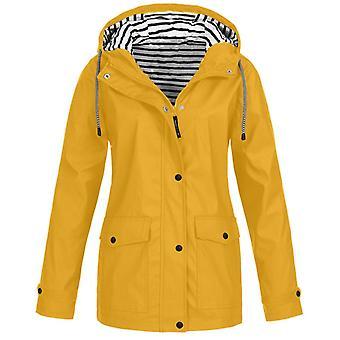 Frauen Jacken, Winter Mantel solide, Regen Outdoor Plus wasserdichte Kapuzen Regenmantel,