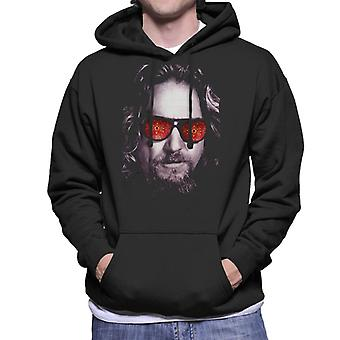 The Big Lebowski The Dude Face Carpet Shades Men's Hooded Sweatshirt