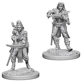 Pathfinder Deep Cuts omålade miniatyrer (W4) Elf Kvinna Bard