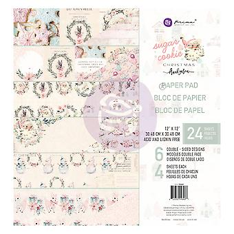 Prima Marketing Sugar Cookie Christmas 12x12 Inch Paper Pad