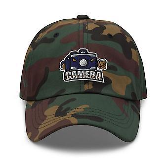 Camera mascot - Photographers Cap