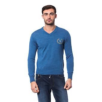 Pullover Blue Billionaire Man