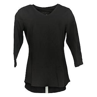 سوزان غرافر المرأة & ق أعلى 3/4 كم متماسكة الأسود A308218