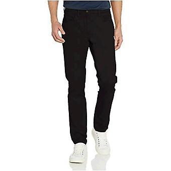 Goodthreads Men's Skinny-Fit 5-Pocket Chino, Musta, 38W x 28L