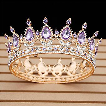 Kristalli vintage kuninkaallinen kuningatar kuningas Tiaras ja kruunut