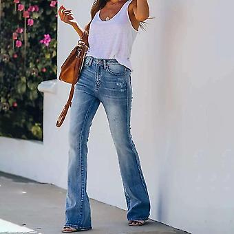 Jeans Women High Stretch Skinny Bell Bottom Clothes Pantalon évasé en détresse