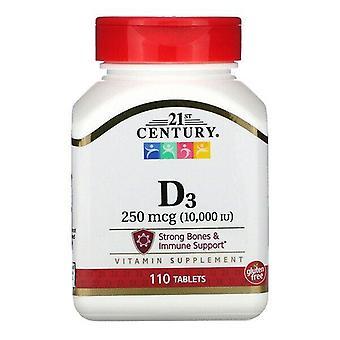2000-talet, Vitamin D3, 250 mcg (10,000 IE), 110 Tabletter