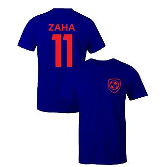 Wilfried Zaha 11 Crystal Palace Stil Spieler Fußball T-Shirt