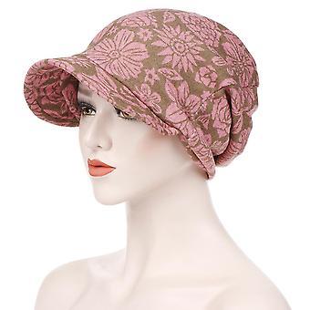 Mode muslimische Frauen Druck Baumwolle Hut Beanies Hijab Haarausfall Chemo Kopftuch